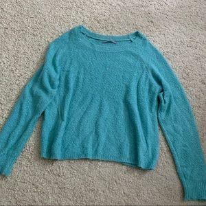 Rubbish Light Blue Scoop Neck Sweater